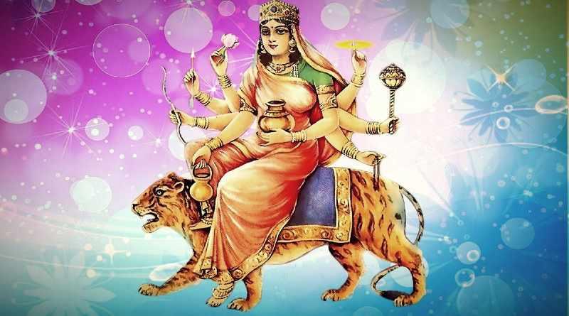 कूष्माण्डा माता का चित्र - Kushmanda Mata Image
