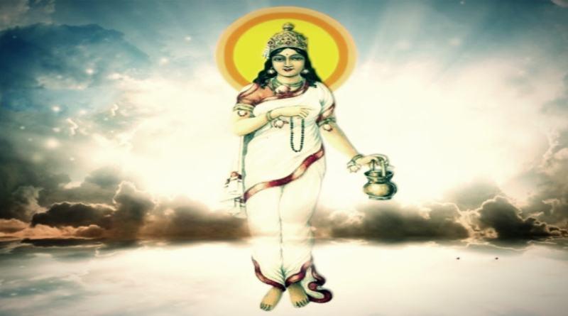 ब्रह्मचारिणी माता का चित्र - brahmacharini Mata Image